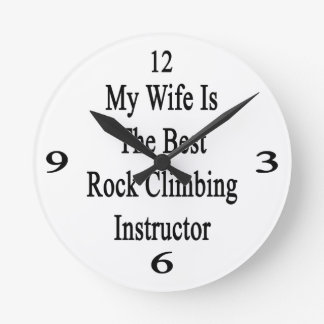 Mi esposa es el mejor instructor de la escalada reloj
