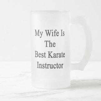 Mi esposa es el mejor instructor del karate taza cristal mate
