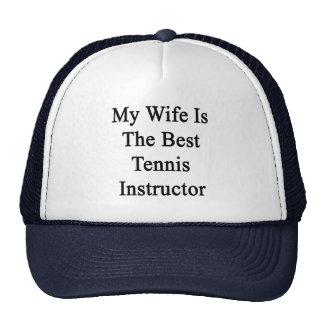 Mi esposa es el mejor instructor del tenis gorros bordados