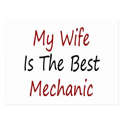 Mi esposa es el mejor mecánico postales
