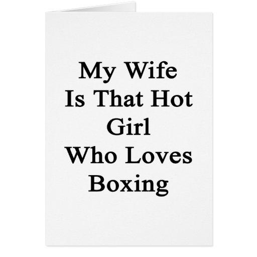 Mi esposa es ese chica caliente que ama el encajon tarjeta pequeña