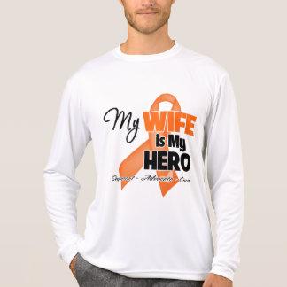 Mi esposa es mi héroe - leucemia t-shirt