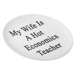 Mi esposa es profesor caliente de la economía plato de cena