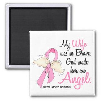 Mi esposa es un cáncer de pecho del ángel 2 imán cuadrado