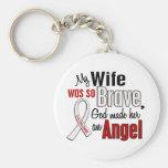Mi esposa es un cáncer de pulmón del ángel llaveros