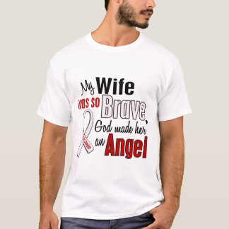 Mi esposa es un cáncer de pulmón del ángel playera