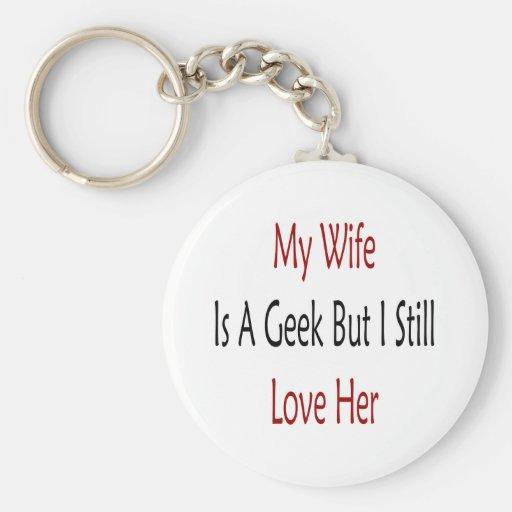 Mi esposa es un friki pero todavía la amo llaveros