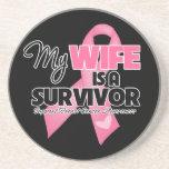 Mi esposa es un superviviente - cáncer de pecho posavaso para bebida