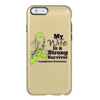 Mi esposa es un superviviente fuerte del linfoma funda para iPhone 6 plus incipio feather shine