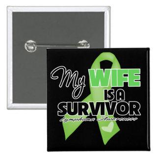 Mi esposa es un superviviente - linfoma pin cuadrado
