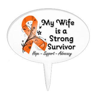 Mi esposa es una cinta fuerte del naranja del supe decoraciones de tartas