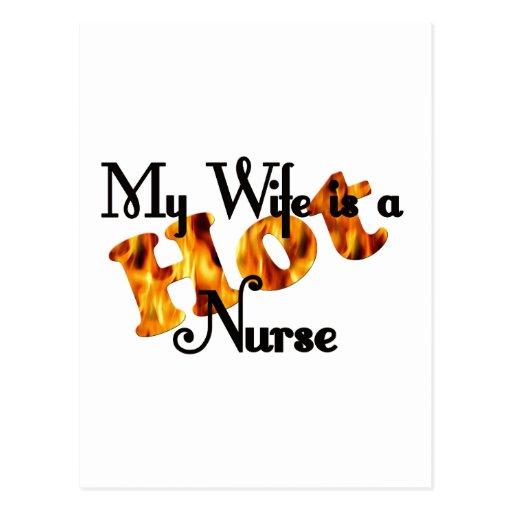 Mi esposa es una copia caliente de la enfermera postal