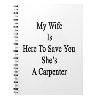 Mi esposa está aquí ahorrarle que ella es cuadernos
