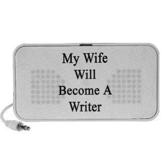 Mi esposa hará escritor laptop altavoz