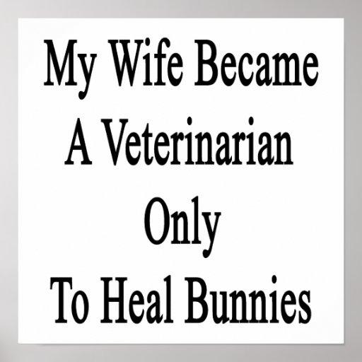 Mi esposa hizo veterinario para curar solamente co posters