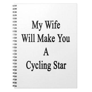 Mi esposa le hará la estrella de ciclo de A Cuaderno