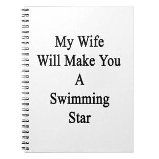 Mi esposa le hará una estrella de la natación notebook