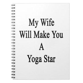 Mi esposa le hará una estrella de la yoga notebook
