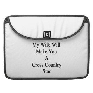 Mi esposa le hará una estrella del campo a través funda macbook pro