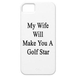 Mi esposa le hará una estrella del golf iPhone 5 Case-Mate carcasa