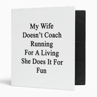 Mi esposa no entrena el funcionamiento para una vi