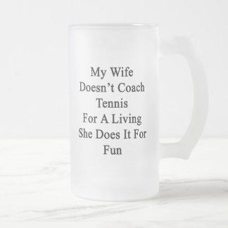 Mi esposa no entrena el tenis para la vida de A qu Taza De Café