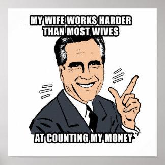 mi esposa trabaja más difícilmente que la mayoría  poster