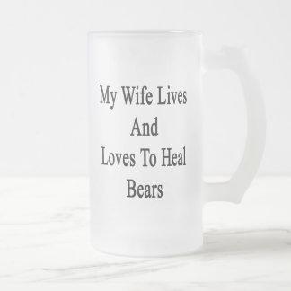 Mi esposa vive y ama curar osos taza