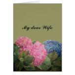Mi estimada esposa tarjeta de felicitación