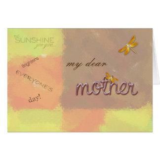 mi estimada madre tarjeta de felicitación