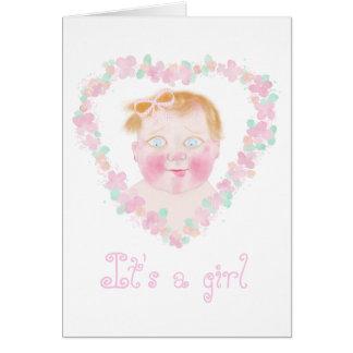 Mi estimado bebé, es un chica por BabyLaia Tarjeta De Felicitación