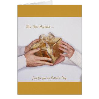 Mi estimado marido…, apenas para usted el el día d felicitación