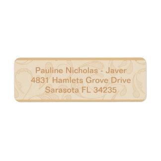 Mi etiqueta de dirección