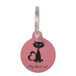 Mi etiqueta de identificación del amor del gato placas para mascotas