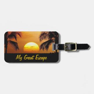 Mi etiqueta del equipaje de Great Escape Etiqueta Para Equipaje