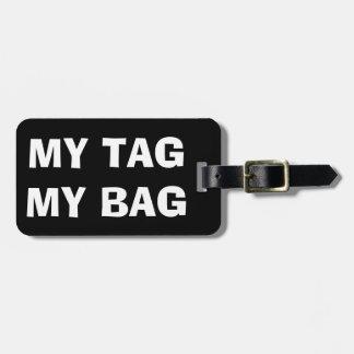 Mi etiqueta mi etiqueta divertida del equipaje del etiquetas para equipaje