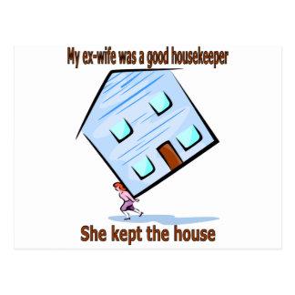 Mi exmujer era buena ama de casa postal
