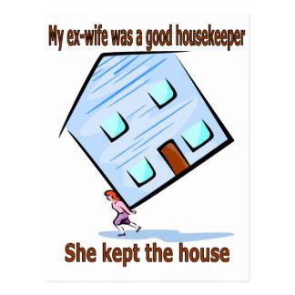 Mi exmujer era buena ama de casa postales
