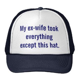 Mi exmujer tomó todo excepto este sombrero gorro de camionero