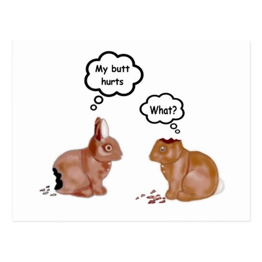 Mi extremo daña la postal de los conejitos