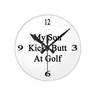 Mi extremo de los retrocesos del hijo en el golf reloj redondo mediano