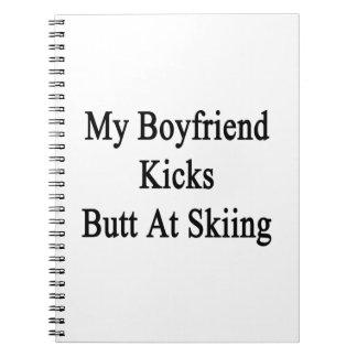 Mi extremo de los retrocesos del novio en el esquí libros de apuntes con espiral