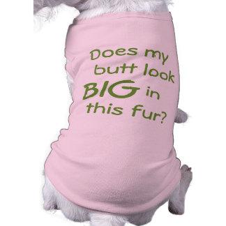 ¿Mi extremo parece grande? Camisa del perro Playera Sin Mangas Para Perro