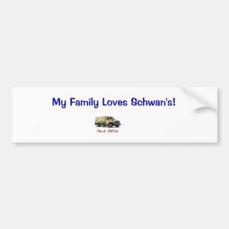 ¡Mi familia ama Schwan! Pegatina Para Auto