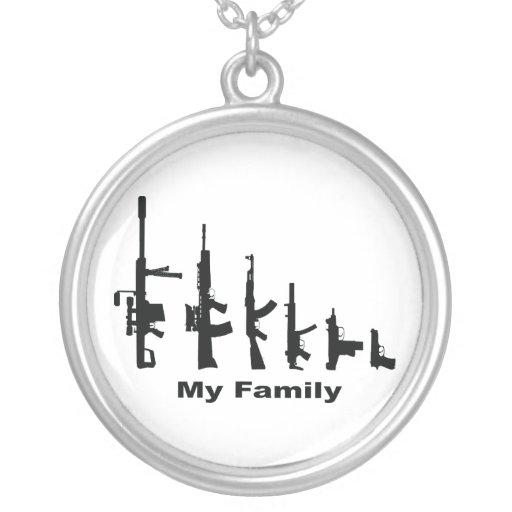 Mi familia (armas del amor de I) Colgante Redondo
