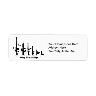 Mi familia (armas del amor de I) Etiqueta De Remitente