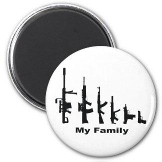 Mi familia (armas del amor de I) Imán Redondo 5 Cm