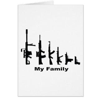 Mi familia (armas del amor de I) Tarjeta De Felicitación