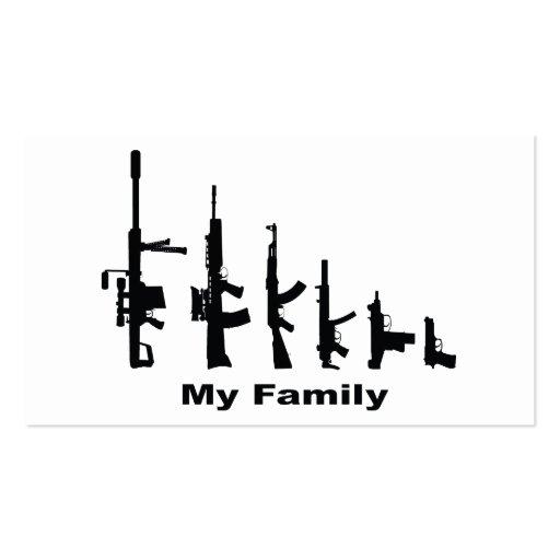 Mi familia (armas del amor de I) Tarjetas De Visita