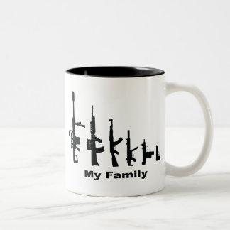 Mi familia (armas del amor de I) Taza Dos Tonos